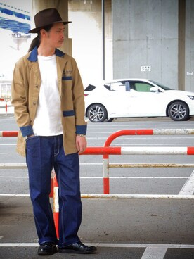 Schott South|okaiさんのステンカラーコート「Schott/ショット/GARAGE SHOP COAT/ガレージ ショップコート(schott|ショット)」を使ったコーディネート