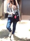 ☆kiraky☆さんの「XGRRRL LOGO COIN CASE(X-girl|エックスガール)」を使ったコーディネート