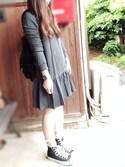 ☆kiraky☆さんの「CONVERSE コンバース ALL STAR HI オールスター ハイ(CONVERSE|コンバース)」を使ったコーディネート