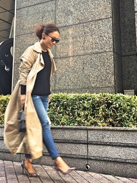 45R 池袋東武店|akikoさんの「ナイロンコート(45R)」を使ったコーディネート