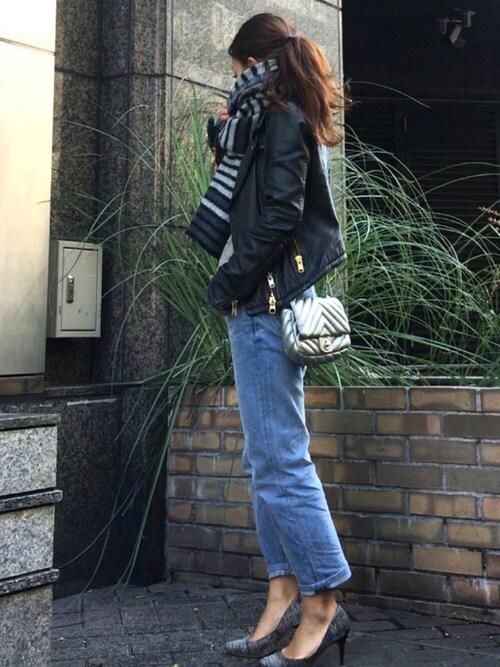 akikoさんの「おこめデニム 海比古比女 海風加工(45R)」を使ったコーディネート