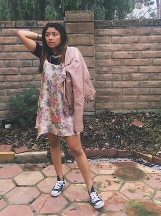 「converse Chuck Taylor High Top Sneaker(CONVERSE)」 using this Megan Jean Valencia looks