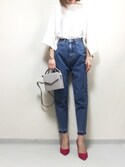 minminmaaaさんの「【SOMETHING for ADAM ET ROPE'】別注FRENCH NOUVEAU W-FRONT SLIM(SOMETHING|サムシング)」を使ったコーディネート