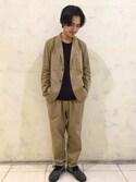 Ryota Yamotoさんの「BY コットン キュプラ 2B ジャケット(BEAUTY&YOUTH UNITED ARROWS|ビューティアンドユースユナイテッドアローズ)」を使ったコーディネート