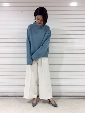 apart by lowrys /名古屋パルコ|apart by lowrys /名古屋パルコ店スタッフさんの「5GWオフタートルPO 759649(apart by lowrys)」を使ったコーディネート