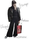 A L A Nさんの「WOMEN オックスフォードワイドパンツ+E(ユニクロ|ユニクロ)」を使ったコーディネート