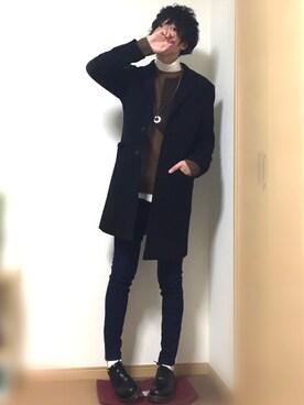 kazunさんの「WOMEN エクストラファインメリノハイネックセーター(長袖)(ユニクロ|ユニクロ)」を使ったコーディネート