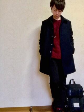 Toruさんの「メリノメルトンステンカラーコート(UNITED TOKYO|ユナイテッドトウキョウ)」を使ったコーディネート
