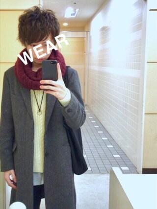 Toruさんの「ツイードチェスターコート(HARE)(HARE|ハレ)」を使ったコーディネート
