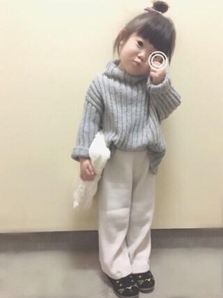 rii*さんの「リブ編みセーター(SWAP MEET MARKET|スワップミートマーケット)」を使ったコーディネート
