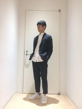 Bshop 博多店|sugiyaさんのテーラードジャケット「2Bシャツジャケット MEN(Morris & Sons|モリスアンドサンズ)」を使ったコーディネート
