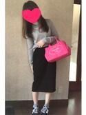 ate ➵♡さんの「WOMEN カシミヤタートルネックセーター(長袖)(ユニクロ|ユニクロ)」を使ったコーディネート