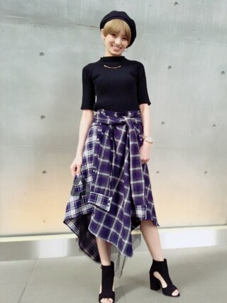 「RIB WHOLEGARMENT TOPS(AULA)」 using this 南明奈 looks