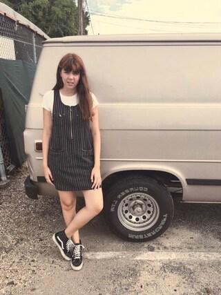 「Women's Vans Sk8-Hi Slim High Top Sneaker(Vans)」 using this emi looks