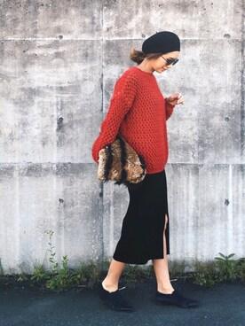 mariko   さんの「WOMEN メリノブレンドリブスカート(ユニクロ)」を使ったコーディネート