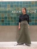 SAKIさんの「チノマキシスカート(ADAM ET ROPE' アダム エ ロペ)」を使ったコーディネート
