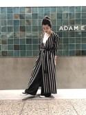 SAKIさんの「シルクフロントプリーツパンツ(ADAM ET ROPE'|アダム エ ロペ)」を使ったコーディネート