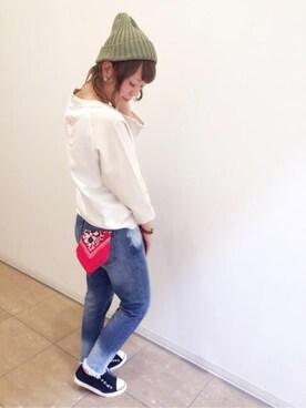 coen鹿児島店 suzukiさんのニットキャップ/ビーニー「USAコットンニットワッチ(coen コーエン)」を使ったコーディネート
