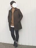 ゆっきーさんの「メリノメルトンステンカラーコート(UNITED TOKYO ユナイテッドトウキョウ)」を使ったコーディネート