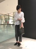 Shiori Tanidaさんの「BY レザーミュール 6.5(BEAUTY&YOUTH UNITED ARROWS|ビューティアンドユースユナイテッドアローズ)」を使ったコーディネート