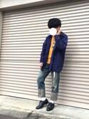 ki-chanさんの「WEGO/4Pフープピアス(WEGO|ウィゴー)」を使ったコーディネート