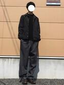 ささやきさんの「MEN コットンカシミヤクルーネックセーター(長袖)(ユニクロ|ユニクロ)」を使ったコーディネート