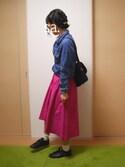 sa.さんの「フィッシュテールギャザースカート(ViS|ビス)」を使ったコーディネート