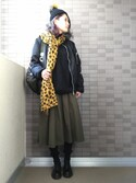 sally.ichiさんの「ファーニットキャップ(LE CIEL BLEU|ルシェルブルー)」を使ったコーディネート