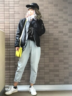sally.ichiさんの「★2016年春夏モデル★オリジナルス スタンスミス [STAN SMITH](adidas originals)」を使ったコーディネート