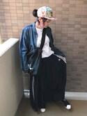 sally.ichiさんの「オリジナルス スカート[3 STRIPES LONG SKIRT](adidas|アディダス)」を使ったコーディネート