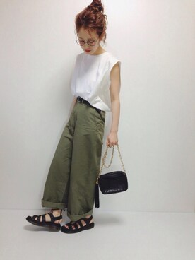 N☻Riiさんの「Dr.Martens GHILLIEサンダル/Dr.M CHILLIE SANDAL(Dr.Martens)」を使ったコーディネート