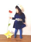 accoo♥︎⍤⃝さんの「花刺繍ベレー帽(Seraph|ノーブランド)」を使ったコーディネート