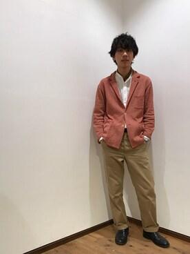 45R 仙台パルコ2店|yuさんのシャツ/ブラウス「スビン平スタンドシャツ(45R|フォーティファイブ・アール)」を使ったコーディネート