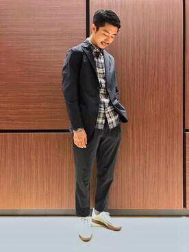 Bshop 新宿ルミネ店|ITOさんの「2Bシャツジャケット MEN(Morris & Sons)」を使ったコーディネート
