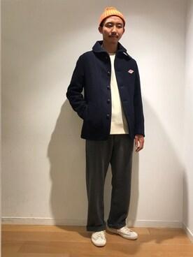 Bshop 新宿ルミネ店|ITOさんの「ウールモッサ シングルジャケット MEN(Danton)」を使ったコーディネート