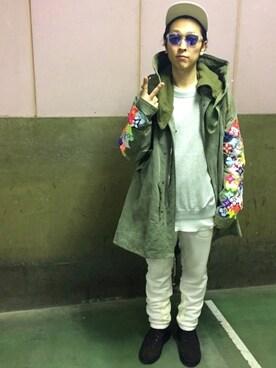 TAKAHIROさんの(READY MADE|レディメイド.)を使ったコーディネート