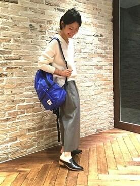 JOURNAL STANDARD 本社|matsuuchiさんのニット/セーター「3GVネックプルオーバー#(JOURNAL STANDARD|ジャーナルスタンダード)」を使ったコーディネート