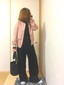 ちこ☺︎さんの「フワ太コールバギーパンツ【niko and ...】(niko and... ニコアンド)」を使ったコーディネート