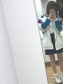 "chanharu☺︎ is wearing WEGO ""WEGO/レトロナイロンパーカー"""