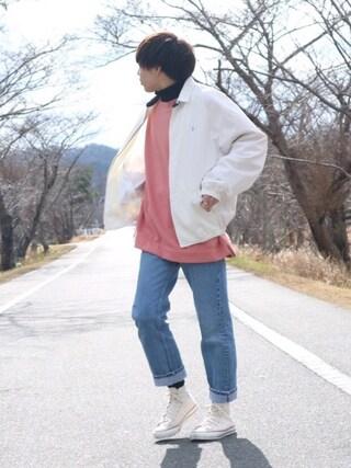 Ryoさんの「WEGO/カラー起毛ビッグプルオーバー(WEGO|ウィゴー)」を使ったコーディネート