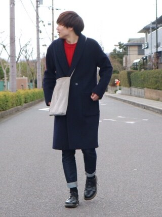 Ryoさんの「CASHEEP HIGHLAND WOOL オーバーコート(HARE)(HARE|ハレ)」を使ったコーディネート