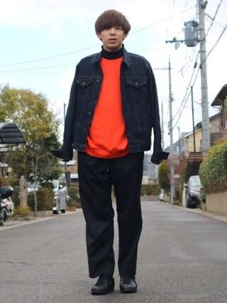 Ryoさんの「起毛ドロップスウェットクルー/742977(RAGEBLUE|レイジブルー)」を使ったコーディネート