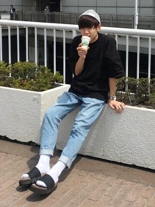 Ryoさんの「<monkey time> TJK MOCKNECK DOLMAN TEE/Tシャツ(MONKEY TIME|モンキータイム)」を使ったコーディネート