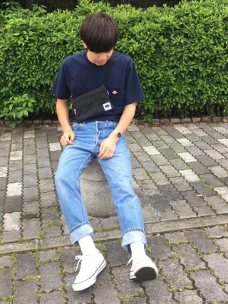 Ryoさんの「ポケットTシャツ SO  MEN(Danton|ダントン)」を使ったコーディネート