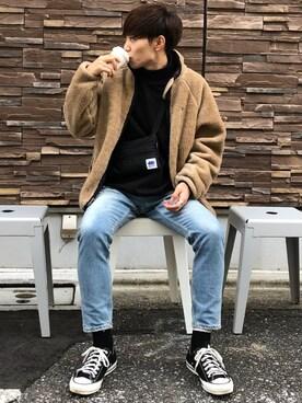 Ryoさんの「BY ヴィンテージ ウォッシュ スキニー デニムパンツ -MADE IN JAPAN-(BEAUTY&YOUTH UNITED ARROWS)」を使ったコーディネート