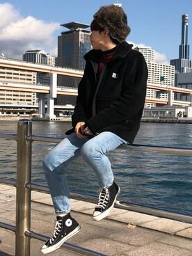 Ryoさんの「<HELLY HANSEN> FIBERPILE JKT/フリースジャケット(HELLY HANSEN ヘリーハンセン)」を使ったコーディネート