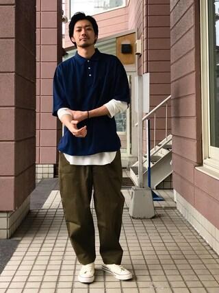「鹿の子ビッグポロシャツ(ZIP FIVE)」 using this ZIP FIVE|KON looks