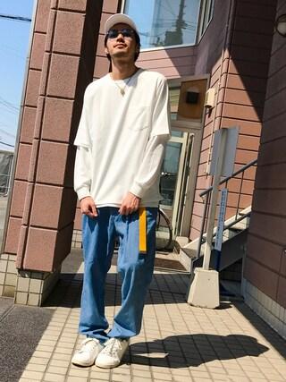 「クルーネックポケ付きロンT(ZIP FIVE)」 using this ZIP FIVE|KON looks