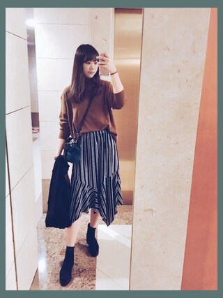 「Monki Double Breasted Long Line Coat(Monki)」 using this  cherry. 🎈 looks