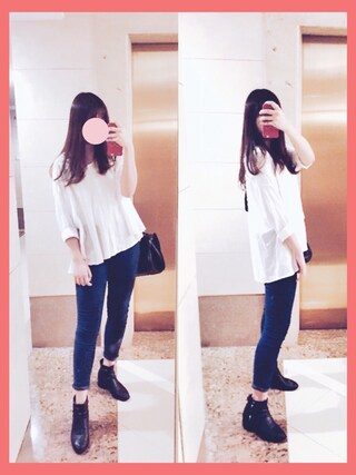 「FOREVER 21 Favorite Skinny Jeans(Forever 21)」 using this  cherry. 🎈 looks
